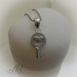 """Сребърно колие """"Ключ"""" N-025"""