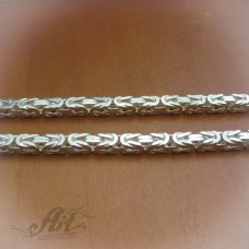 Мъжки сребърен ланец N-032 - 60 см.