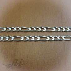 Сребърен синджир, мъжки N-048 - 55 см.