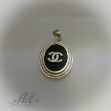 "Сребърен медальон "" Шанел"" P-394"