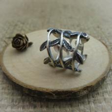 """Сребърен пръстен """" Плетеница от листа"""" R-484"""