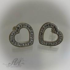 Сребърни обеци с камъни Swarovski - E-495