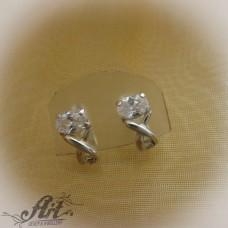 Сребърни обеци  с цирконий - E-561