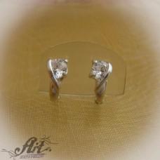 Сребърни обеци с цирконий - E-563