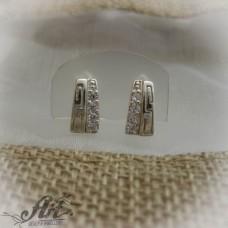 Сребърни обеци с цирконий -  E-564