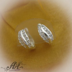 Сребърни обеци с цирконий -  E-565