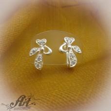 Сребърни обеци с цирконий -  E-570