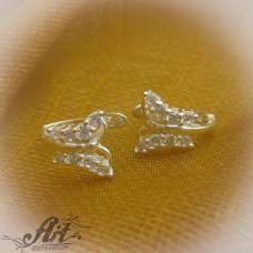 Сребърни обеци  с цирконий - Е-571