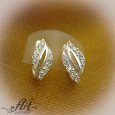 Сребърни обеци  с цирконий - Е-575
