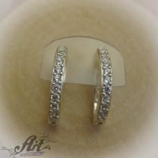 Сребърни обеци с цирконий -  E-577