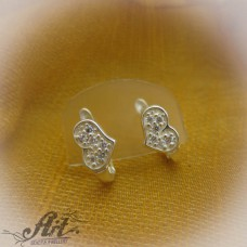 Сребърни обеци  с цирконий - Е-578