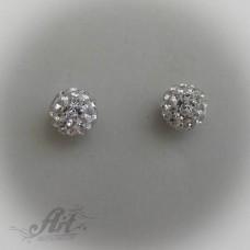 Сребърни обеци с камъни Swarovski - E-184