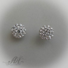 Сребърни обеци с камъни Swarovski - E-185