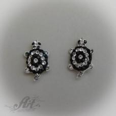 Сребърни обеци с камъни Swarovski - E-179