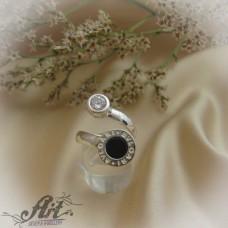 Сребърен  пръстен с цирконий Bvlgari  R-557