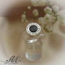 Сребърен  пръстен с цирконий Bvlgari  R-563