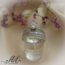 Сребърен  пръстен с цирконий   R-579