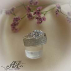 Сребърен  пръстен с цирконий   R-580
