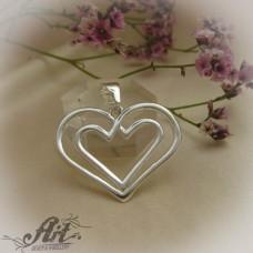"Сребърен медальон  ""Сърце"" P-518"
