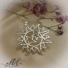 "Сребърен медальон "" Слънце""  P-521"