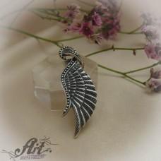 "Сребърен медальон "" Ангелско крило""  P-523"