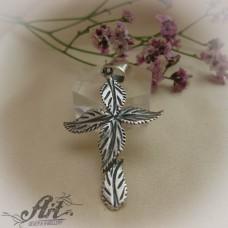 """Сребърен кръст """" Орнаменти"""" P-182"""