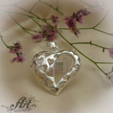 "Сребърен медальон  ""Сърце"" P-514"