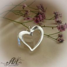 "Сребърен медальон  ""Сърце"" P-519"