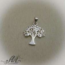 """Сребърен медальон с цирконий """" Дървото на живота """" P-571"""