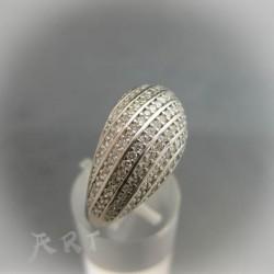 Сребърен дамски пръстен с цирконий R-015